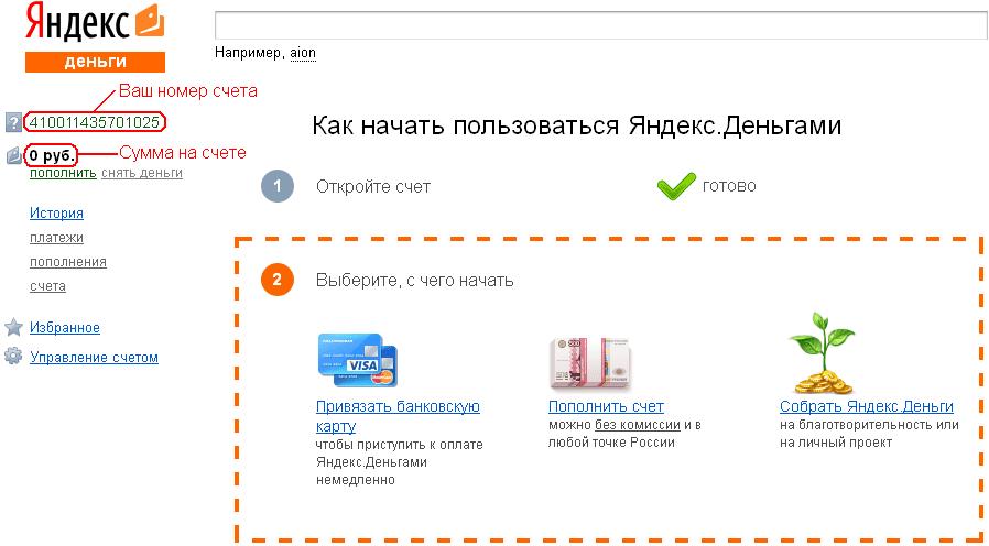 Номер кошелька Яндекс.Деньги