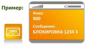 Блокировка карты через SMS