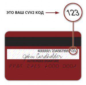 Код CVV2 на карте Visa