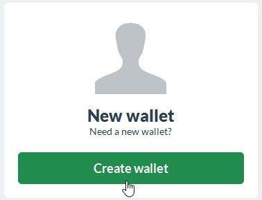 Создать кошелек