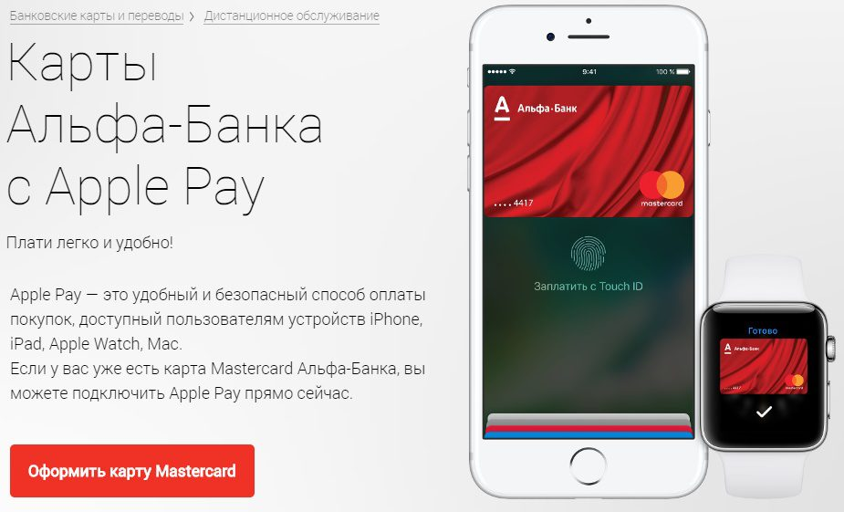 Apple Pay Альфа-Банк