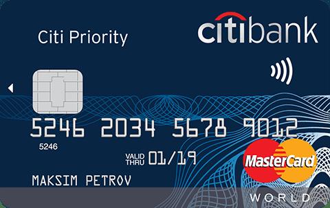 Ситибанк карта Citi Priority MasterCard World