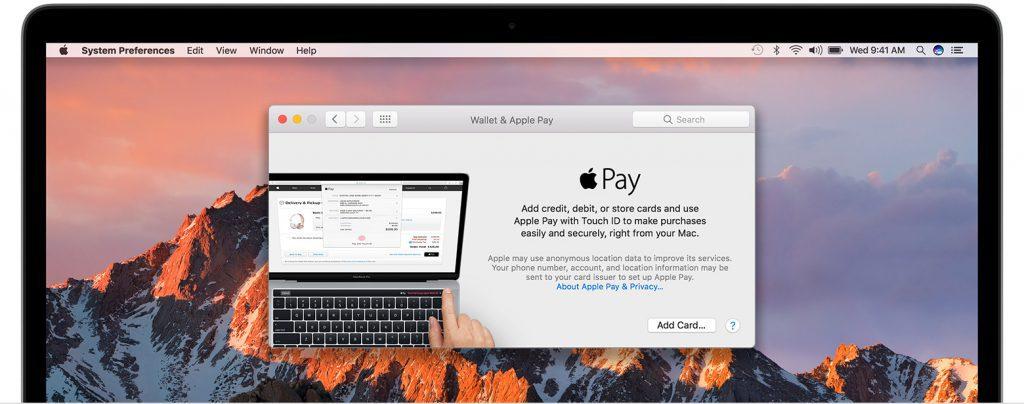 Добавление карты на Mac