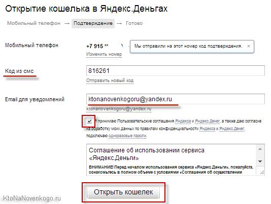 Открытие кошелька в Яндекс Деньгах5c5b414498972