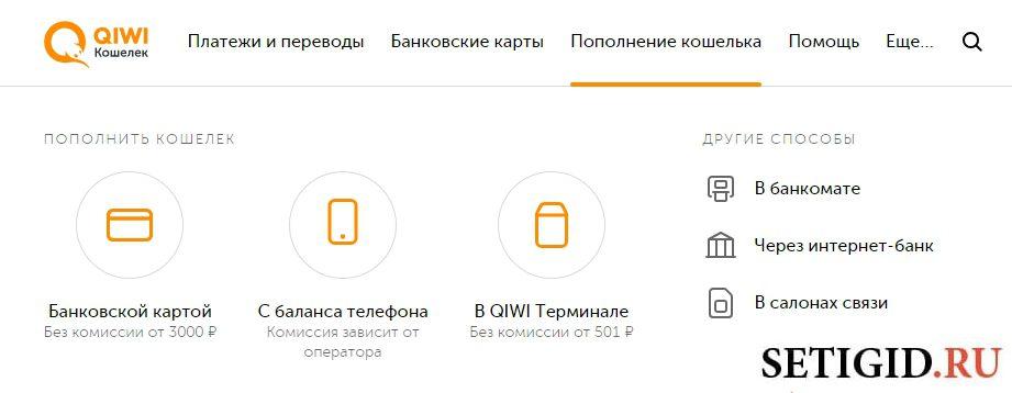 Пополнение кошелька QIWI через интернет5c5b44c66d95e