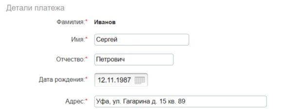 Детали платежа5c5b52d7ca588