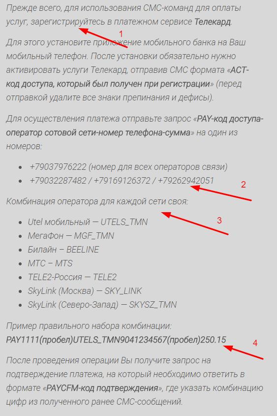 Как пополнить баланс телефона через карту газпромбанка по СМС5c5b5617e2cf5