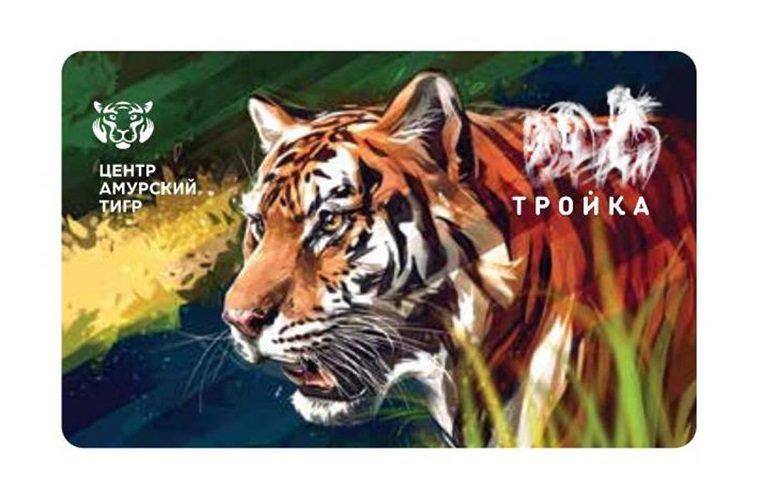 Лимитированный тираж карт «Тройка» выпустят к Международному дню тигра. Фото: официальный сайт мэра Москвы5c5b5d13d5ea8