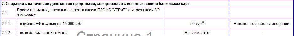 Тариф на пополнение карты 120 дней банка УБРиР через кассы5c5b603f0cab7