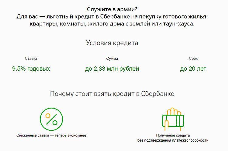 Условия военной ипотеки в Сбербанке5c5b6160156f5