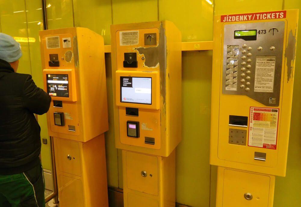 Автоматы по продаже проездных билетов в Праге5c5b6218931bc