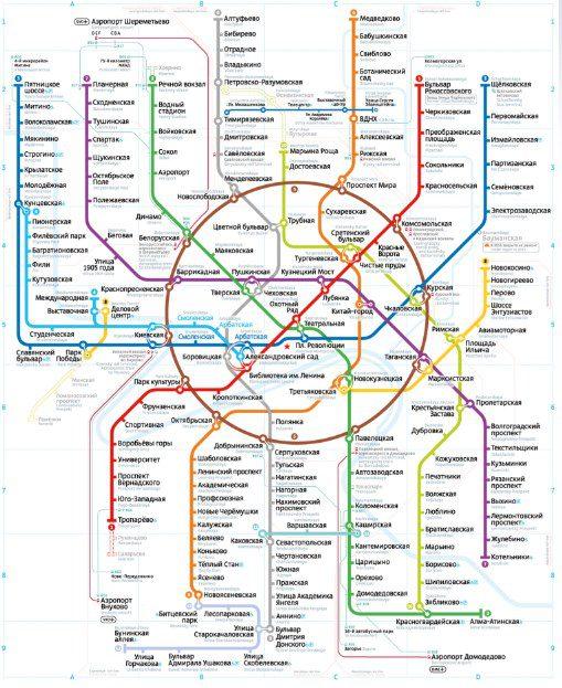 Схема Московского метрополитена5c5ac416a8e29