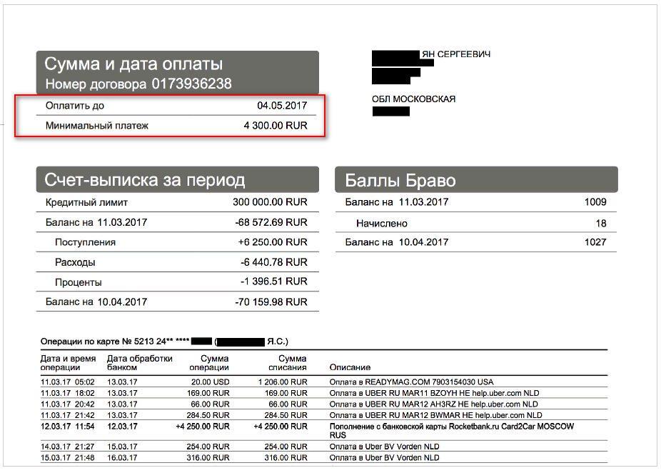 Узнать какой у вас минимальный платеж можно из выписки, которая приходит на почту5c5ac152e8c20