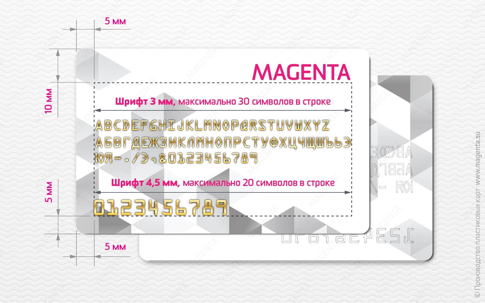 Шрифты, используемые при эмбоссировании пластиковых карт5c5ac0f0ae963