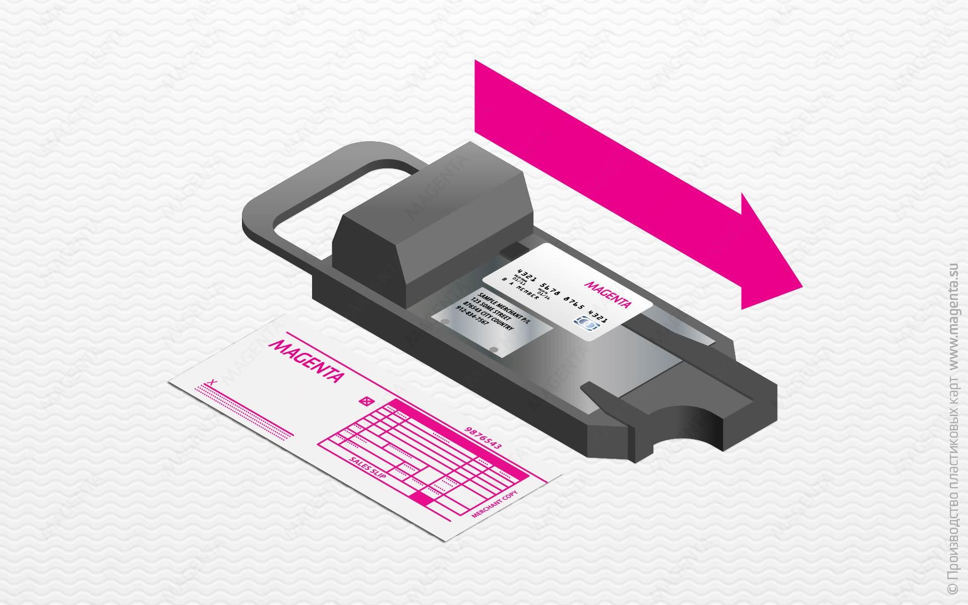 Импринтер для оттиска номера карты через копировальную бумагу5c5ac0f23b613