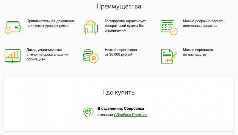 Приобрести облигации РФ в Сбербанке можно только в отделениях Премьер5c5b136ed67a9
