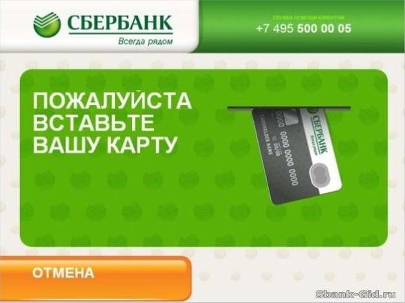 Оплата банковской картой через терминал Сбербанка5c5b1bfca500e