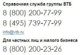 Контакты банка ВТБ 245c5b280393633