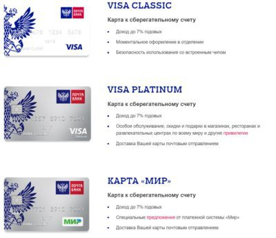 Выберите более подходящую вам по условиям дебетовую карту Почта Банка, чтобы заказать ее выпуск5c5b2987ed8bb