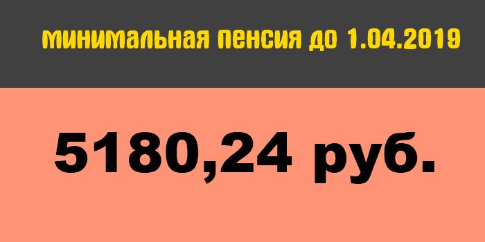 Минимальная пенсия в России до 1 апреля 2019 года5c5b3722bb248