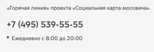 Горячая линия «Социальной карты Москвича»5c5b392643183