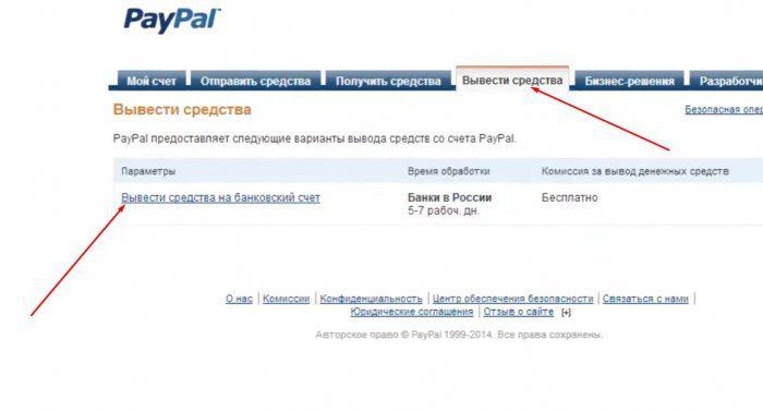 Жмем на параметр «Вывести средства на банковский счет».5c5b3a9510ce1