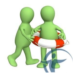 два человечка и спасательный круг-концепция страхования жизни5c5d7e678acc6