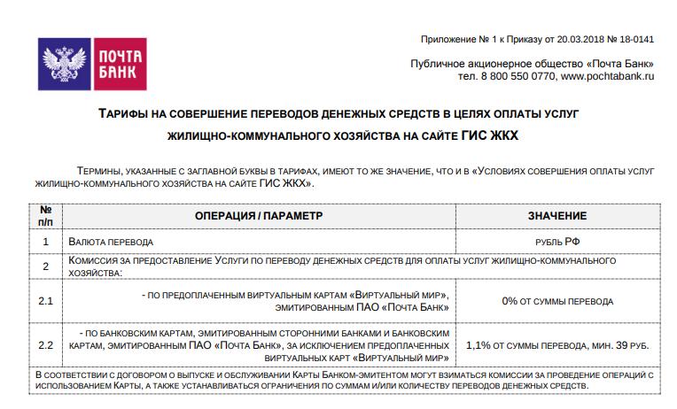 почта банк ввел комиссию оплата гис жкх5c5dd0e5e29d5