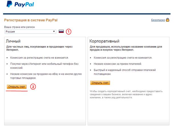 Открытие личного счёта PayPal5c635ae2096b7