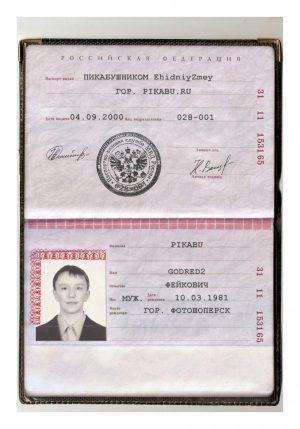 Образец паспорта гражданина РФ5c61a1f1d6b1e
