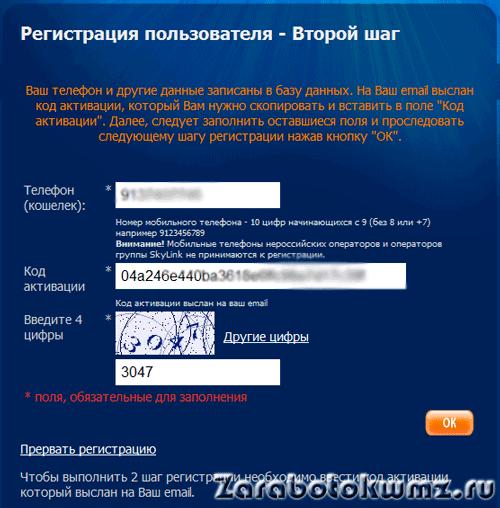 Код введён5c68f543c4ce3