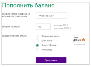 Минимальная сумма пополнения – 100 рублей5c7c04e609914