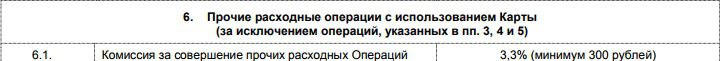 Комиссия за стягивание с карты Пятерочка от Почта-Банка5c89cea7f31ee