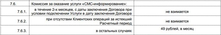 СМС-инфо по карте Пятерочка от Почта-Банка5c625124d870b