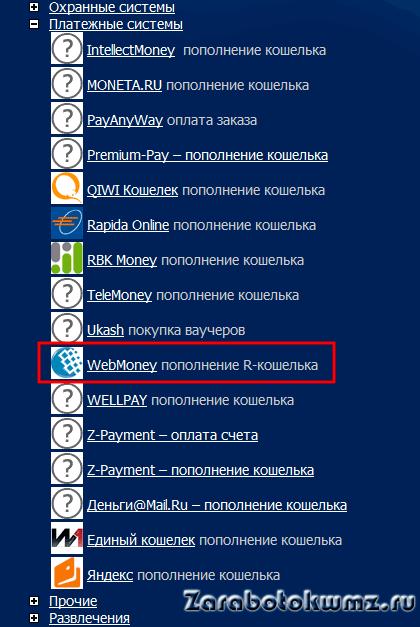 Выбираем Webmoney для направления платежа5c9808c9d2beb