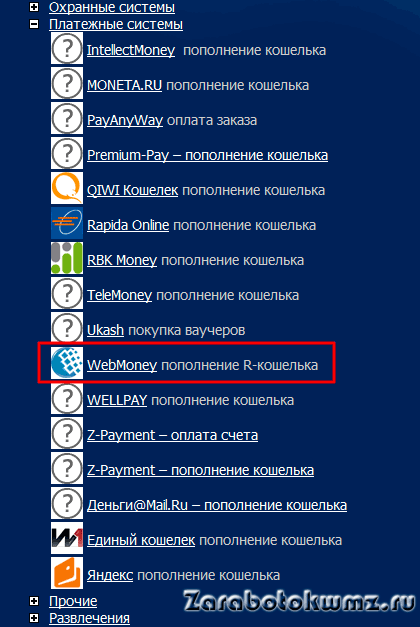 Выбираем Webmoney для направления платежа5c9df79a3ae55
