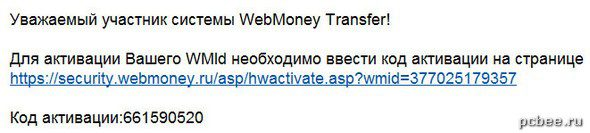 Код активации кошелька WebMoney пришел на e-mail5c9f733f552a0