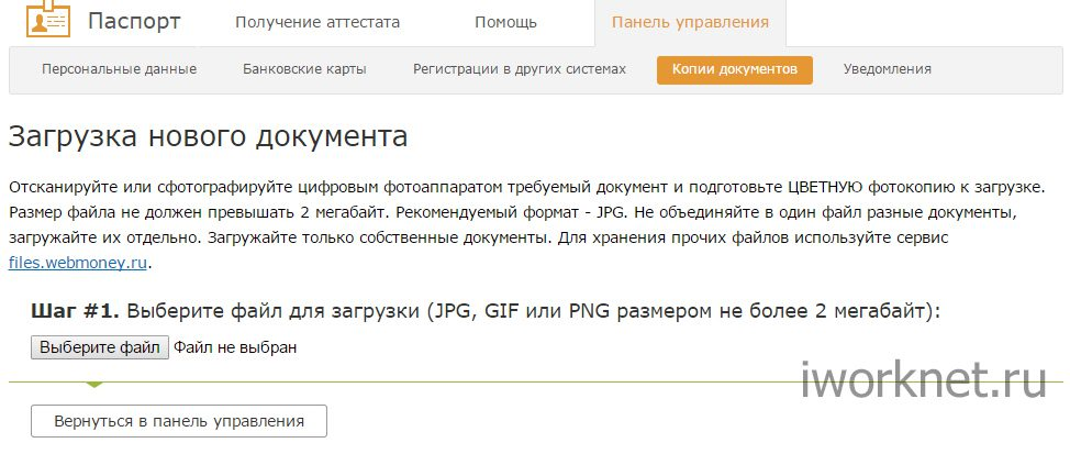 Загрузка нового документа в вебмани5ca902240839a