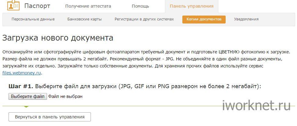 Загрузка нового документа в вебмани5cac23a9d9e7d
