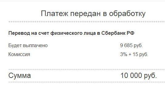 Проценты на вывод Яндекс денег на карточку Сбербанка5c62b39dd4965