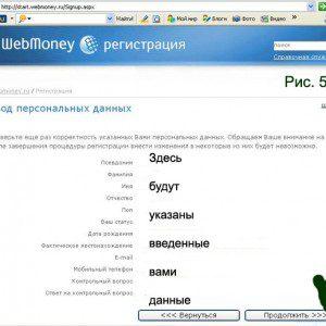 ввод данных из письма, полученного от Webmoney5c62bd5e7a817