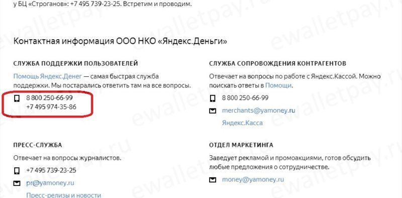 Способы обращения в службу поддержки системы Яндекс.Деньги5c62c310ef656