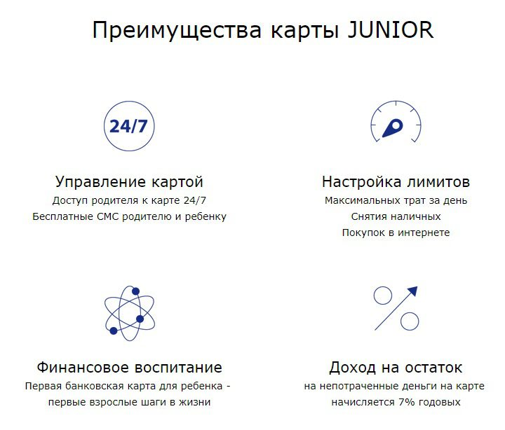 Преимущества карты Junior Бинбанка5c62c877cb7f4